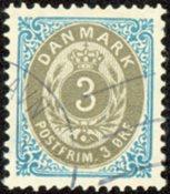Danmark - Tofarvet øremærke - AFA 22Cy - Stemplet
