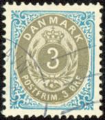 Denmark two-color øre-stamp