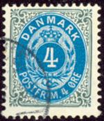 Danmark - Tofarvet øremærke - AFA nr. 232Cy - Stemplet