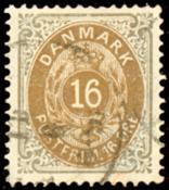 Danmark - Tofarvet øremærke - AFA nr. 27y - Stemplet