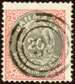 Danmark - Tofarvet øremærke - AFA nr. 28y - Stemplet