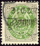 Danmark - Tofarvet øremærke - AFA nr. 29By - Stemplet