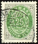 Danmark - Tofarvet øremærke - AFA nr. 29B - Stemplet