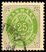 Danmark - Tofarvet øremærke - AFA 29y - Stemplet