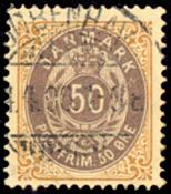 Denmark two-color øre stamp