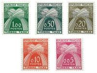 France 1960 - YT TX90-94 - Taxe
