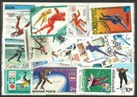 Skøjteløb 2 miniark og 40 frimærker