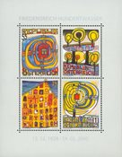 Autriche - Hundertwasser - Bloc-feuillet neuf