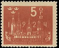 Sweden 1924 - Facit no. 196 World postal congress
