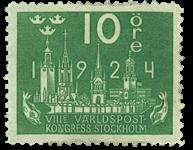 Sverige Facit 197 1924 Verdenspostkongres
