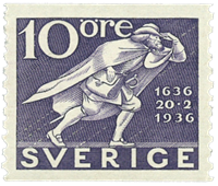 Sweden 1936 - Facit no. 247a UPU 300th anniversary