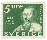 Suède Facit 246c 1936 la poste 300 ans
