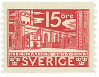 Sweden 1933 - Facit no. 242A - 500th anniversary of the *Rigsdag*