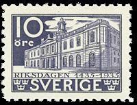Suède Facit 241c 1933 banque épargne de la poste anniversaire