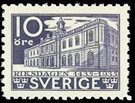Sverige 1933. Rigsdagens 500-års jubilæum  Facit 241C