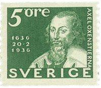 Suède Facit 246a 1936 la poste 300 ans