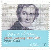 Allemagne - Albert Lortzing - Timbre neuf