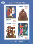 Spanien - Samtidskunst Manolo - Postfrisk miniark