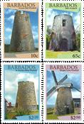 Barbades - Moulons à vent - Série neuve 4v