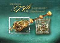 Barbades - 375 ans du Parlement - Bloc-feuillet neuf