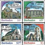 Barbados - Kirker - Postfrisk sæt 4v