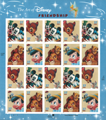USA - Disney Friendship - Mint sheetlet