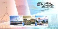 澳大利亚和新加坡联合发行小型张