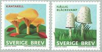 Sverige - Svampe - Postfrisk selvkl. sæt 2v