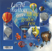 Belgium - Hot Air Balloons - Mint sheetlet