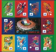 France - Coupe du Monde de football 1998 - Feuillet neuf
