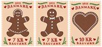 Danemark - Gâteaux au miel - Série neuve 3v
