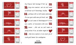 Danmark - Anledningsmærker - Postfrisk ark