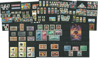 Stamps from 50 different countries