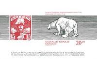 Grønland - 75 året for oprettelsen af Grønlands postvæsen - Postfrisk miniark