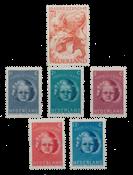 Holland årgang 1945 - Postfrisk