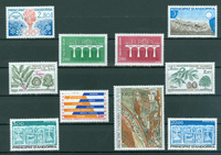French Andorra - Yearset  1984 - Mint - YT 327/36