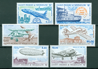 Saint-Pierre & Miquelon - Årgang  Luftpost 1987-1990 - Postfrisk - YT PA64/69