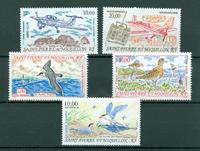 Saint-Pierre & Miquelon - Årgang  Luftpost 1991-1995 - Postfrisk - YT PA70/74