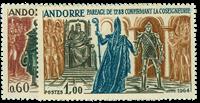 Fransk Andorra 1964 - AFA nr. 183-84 - Postfrisk