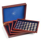 Coffret VOLTERRA QUATTRO de Luxe pour 24 séries d'euros complétes en capsul