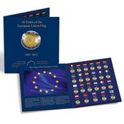 Album PRESSO pour les 23 pièces de 2 euros commémoratives « 30 ans du drape