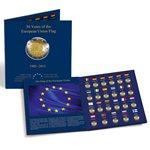 """2 euron yhteisjulkaisut PRESSO-kolikkokansio - """"Euroopan lippu 30 vuotta"""""""