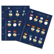 Feuille Vista pour 23 monnaies de 2 Euros *30 ans du drapeau européen*
