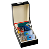 Boîte de rangement LOGIK, format intérieur 170 x 120 mm, noir