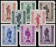 Belgien 1943 - OBP 615/22 - Postfrisk