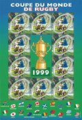 France - World Cup in Rugby - Mint miniature sheet