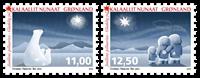 Grønland - Jul 2015 - Postfrisk sæt 2v