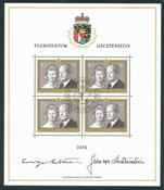 Liechtenstein - Le couple princier - 1974