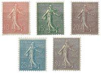 Frankrig 1903 - YT 129-33 - Ubrugt