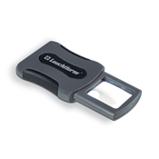 CLIP pocket magnifier with 3x magnification and LED